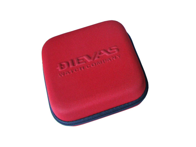 DIEVAS cool automatic small zippered watch holder heavy duty nylon covering with embossed logo
